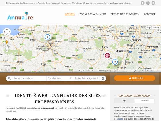 Identité Web, annuaires professionnels