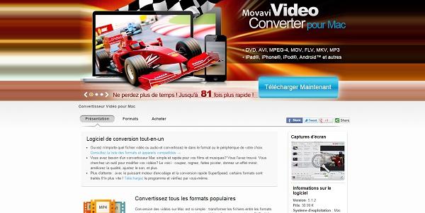 Movavi Video Converter pour Mac