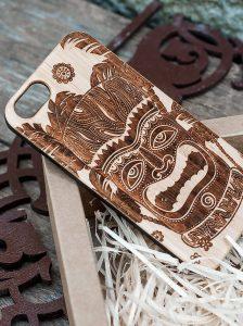 coque en bois pour l'iPhone