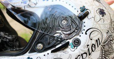 Dessin casque de moto